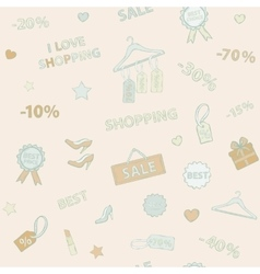 Shopping set pattern vector image vector image
