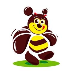 Sweet-shop bee cake sign vector