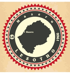 Vintage label-sticker cards of lesotho vector