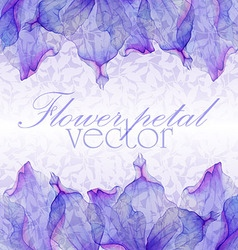 Watercolor greeting floral card vector image