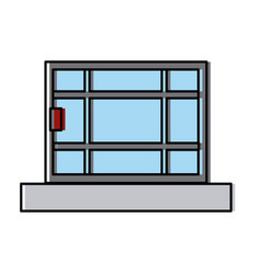 window house isolated vector image vector image