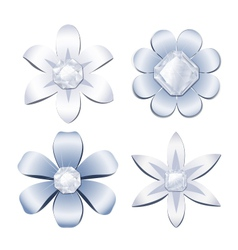 Diamond flowers vector