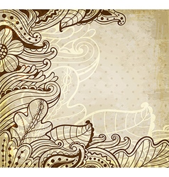 Abstract vintage floral background vector