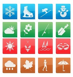Season activity icon set vector