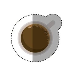 Isolated coffee cup design vector
