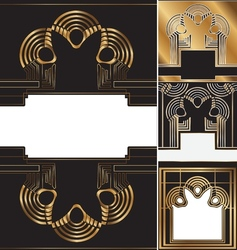 Art deco background vector