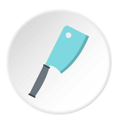 steel meat knife icon circle vector image