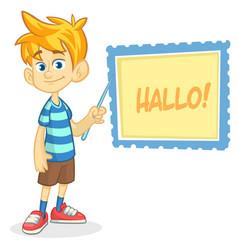 Cartoon of blond boy vector