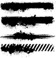 Black ink texture banner vector