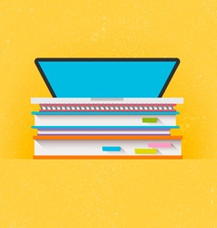 Education Concept Flat Design vector image
