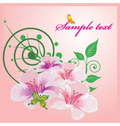 abtsract floral vector image