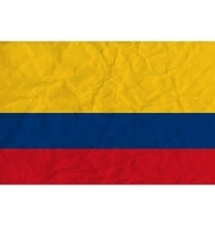 Colombia paper flag vector