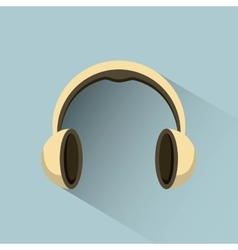 Headphones icon design vector
