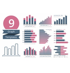 Graphs and charts templates vector