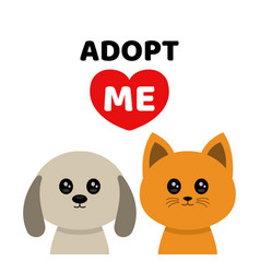 adopt me dont buy dog cat pet adoption vector image