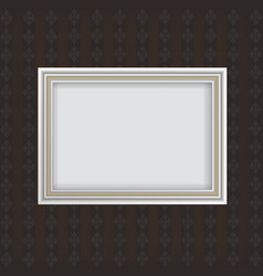 Antique white frame vector