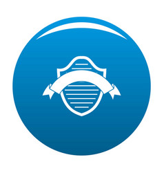 Badge premium icon blue vector