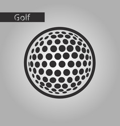 Black and white style icon golf ball vector