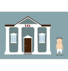 Businessman was left without anything after taxes vector image vector image