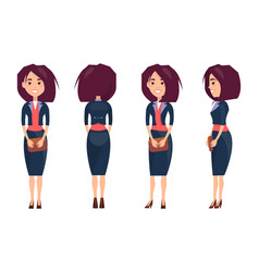 Businesswoman in suit and stilettoes holds purse vector