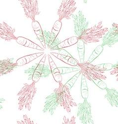 carrot mandala pattern vector image vector image