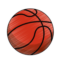 drawing basketball ball equipment vector image vector image
