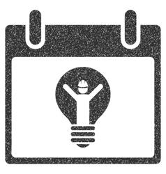 Electrician calendar day grainy texture icon vector