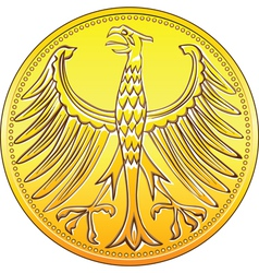 germany money gold vector image vector image