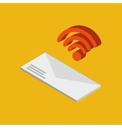 global connection wifi digital message envelope vector image