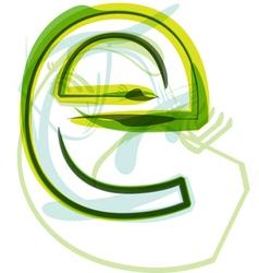Green letter E vector image vector image