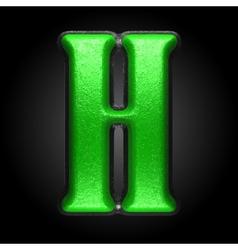 Green plastic figure h vector
