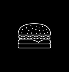 Hamburger line icon food drink elements vector