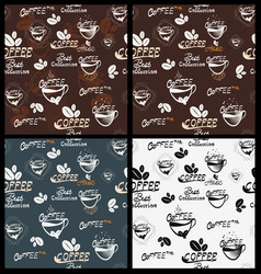 Hand drawn coffee elements vector