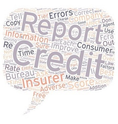 Insurance and your credit report part ii text vector