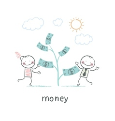 Man and Money vector image vector image