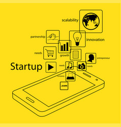 modern and simple info graphic of startup business vector image vector image