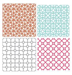 Modern mesh seamless pattern in geometric style vector