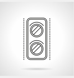 Railway traffic light flat line icon vector