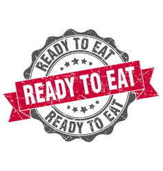 Ready to eat stamp sign seal vector