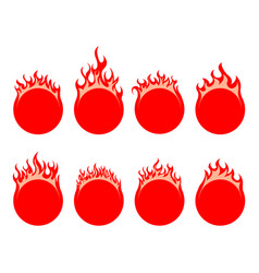 round fire icon vector image vector image