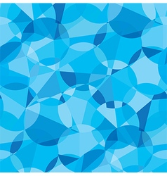 Seamless blue color geometric pattern vector image vector image