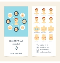 Set of flyer brochure for plastic surgery Set of vector image vector image