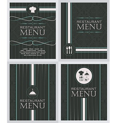 Set of restaurant menu design cover template in vector image vector image