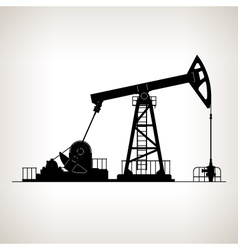 Silhouette pumpjack or oil pump vector