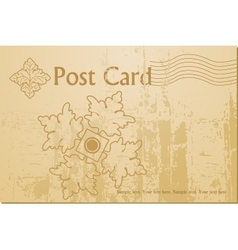 vintage art blank postcard vector image vector image