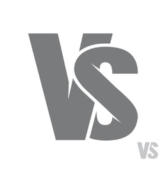 VS letters logo vector image