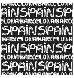 Spain and barcelona pattern vector