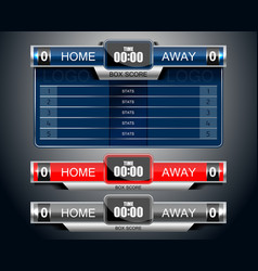 Box scoreboard sport game vector