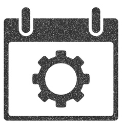 Gear options calendar day grainy texture icon vector
