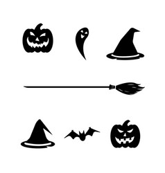 halloween set on white background vector image